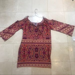 Neiman Marcus NWT Boho cold shoulder dress